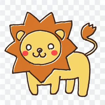 ライオンのかわいい動物イラスト2