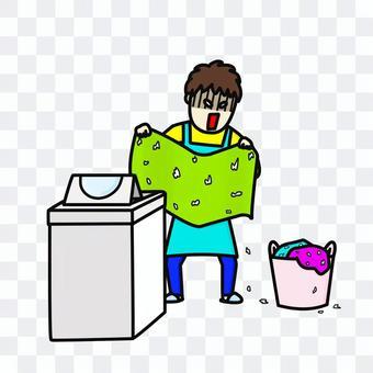 洗衣機家庭主婦紙巾