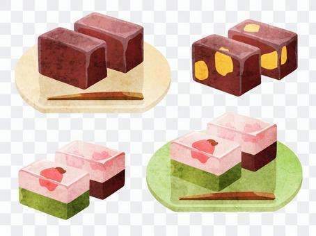 烹飪_日本甜點_Yotei_水彩