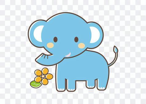 鮮花和大象