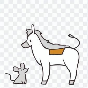 灰姑娘的馬和鼠標