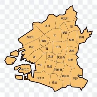 Map of Osaka city