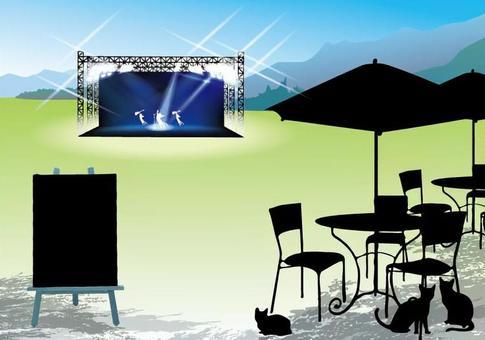 Mountain Summer Festival Open Cafe Postcard