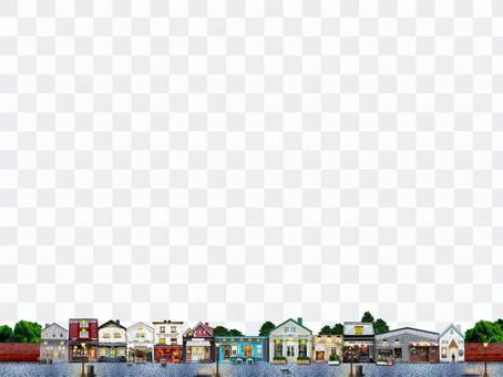 斯堪的納維亞可愛的城市景觀2裝飾格線橫幅