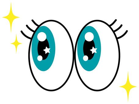 Glittering green eyes icon