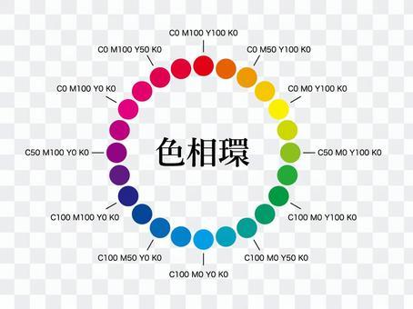 彩色圓圈插圖CMYK_vector