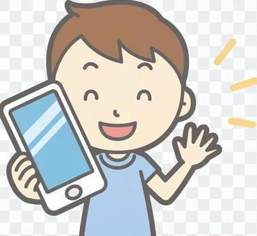 男孩短袖 - 智能手機 - 胸圍