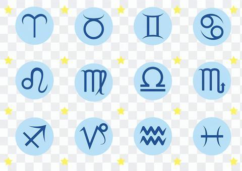 12 constellation icon set 2