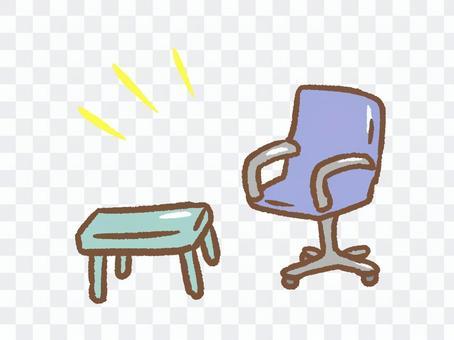 簡單的藍色椅子套