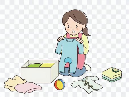 ベビー用品の整理(悩む)