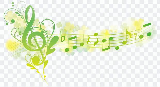 Yellow and green elegant toy symbol heading banner