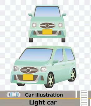 車正面と側面セット 軽自動車