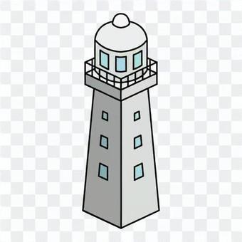 燈塔(帶窗欄杆)