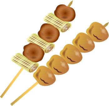 烤雞肉串Neumi插圖