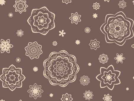 牆紙與花卉圖案棕色