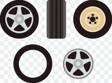 輪胎輪圖標集