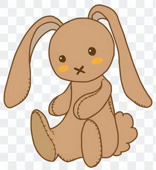 兔毛絨動物(茶)
