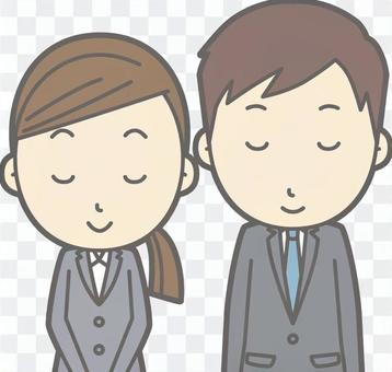 穿西裝的男人和女人-小王子笑臉胸圍
