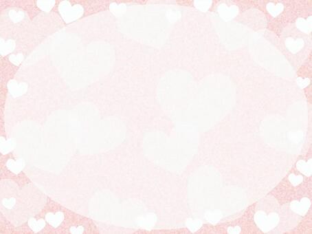 Heart wallpaper frame decorative frame material illustration