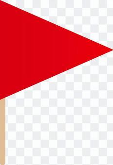 三角形flag_red