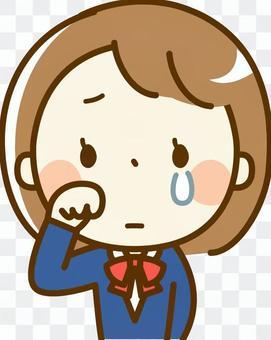 女學生流淚