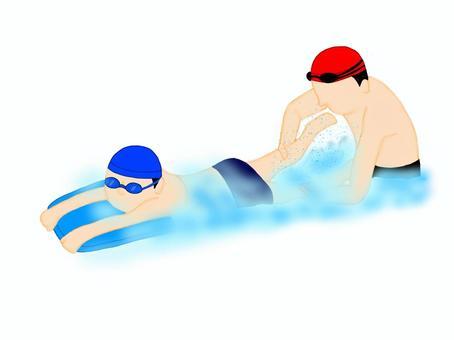 顫振腳幫助男孩和男性教練
