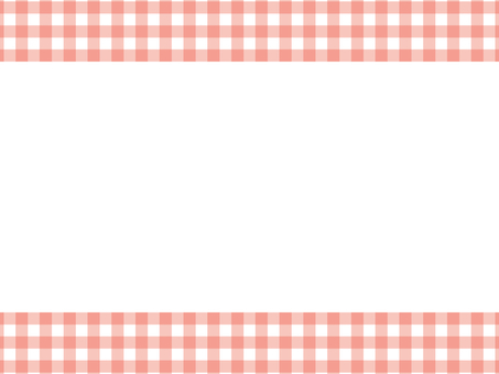 Simple gingham check top and bottom frame: red
