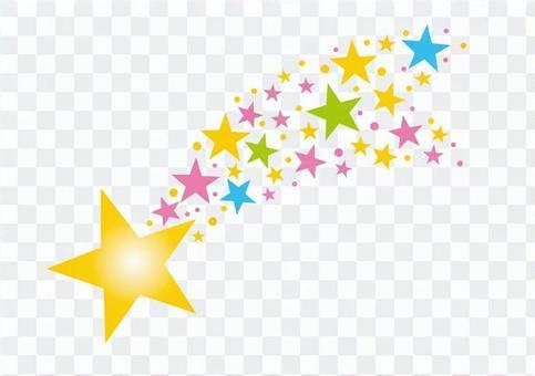 Decorative material 022 stars