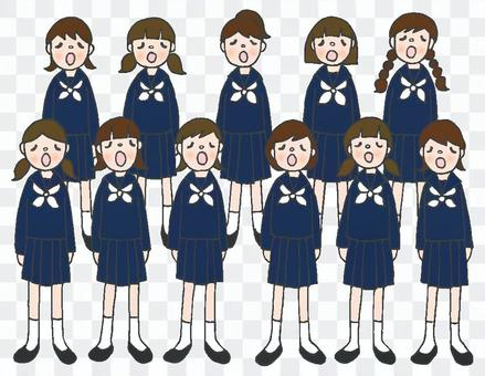 合唱部分女子水手製服