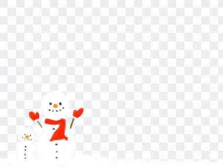冬天背景雪人背景