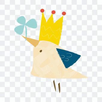 三叶草和小鸟