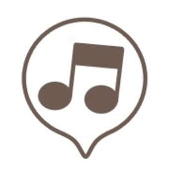 Speech balloon notes Black and white music sounds