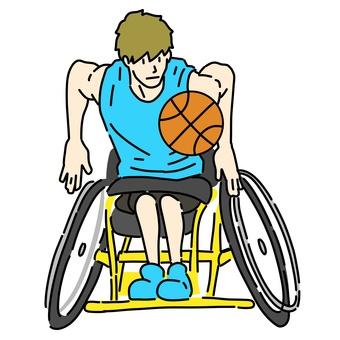 Wheelchair men's basketball player