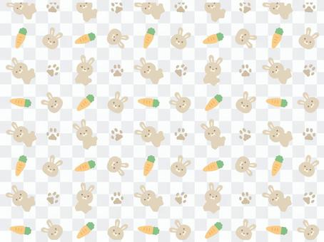 Rabbit (gray) pattern 1