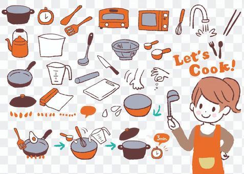 菜餚和食譜的插圖