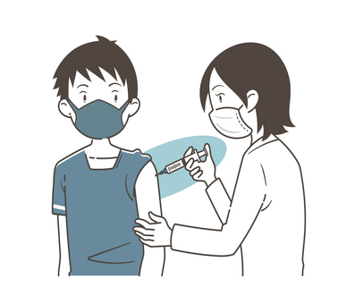 接種疫苗的男性