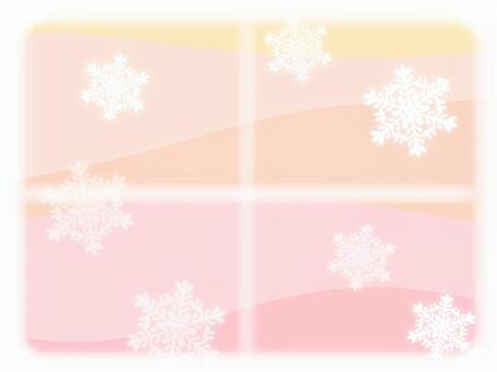 In the cold weather pink background
