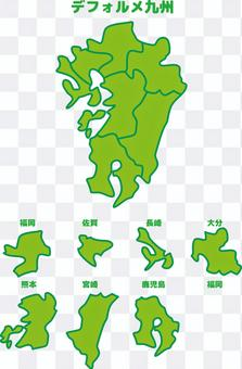 九州日本地圖變形邊界