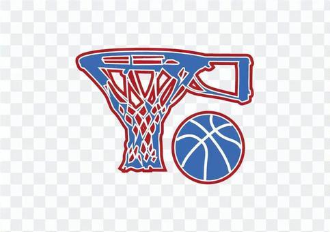 籃球架和球