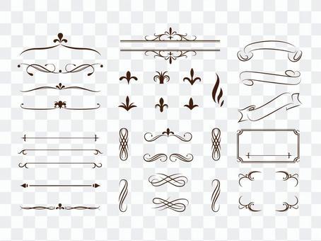 Summary Decorative Ruled Column
