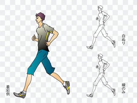 慢跑的年輕人