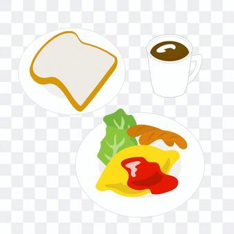 煎蛋捲和維也納早餐