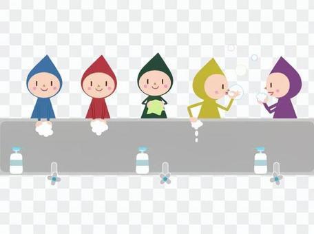 Hand wash dwarf