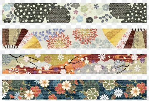 日式日式裝飾線