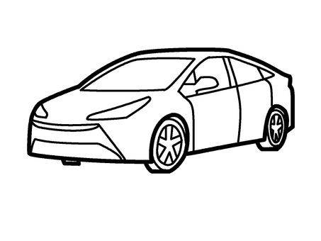 Colorless car icon