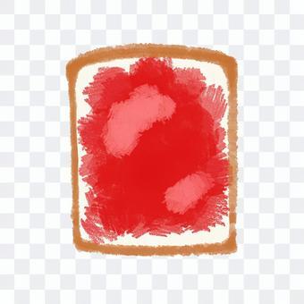食パン いちごジャム