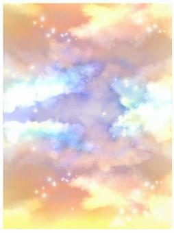 垂直雲日落
