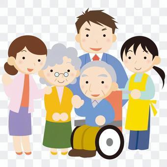 護理人員和家人