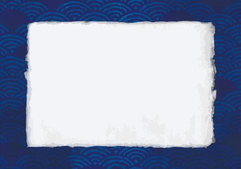 Handmade Washi and Qinghai wave frame