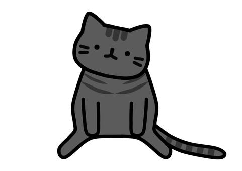 猫 座りポーズ